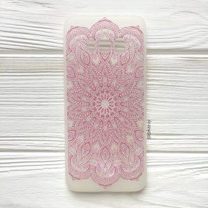 Матовый силиконовый (TPU) чехол (накладка) Soft Touch с розовым узором для Samsung G950 Galaxy S8