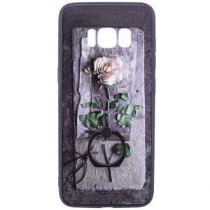 Тематический чехол с кольцом и принтом с розой для Samsung G955 Galaxy S8 Plus (Rose)