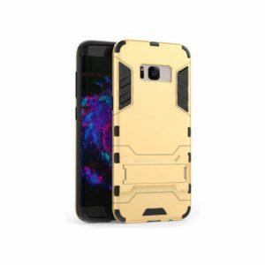 Золотой противоударный (ударопрочный) чехол (бампер) TPU+PC Transformer с подставкой для Samsung G955 Galaxy S8 Plus (Gold)