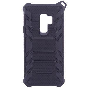 Противоударный черный (TPU+PC) чехол (бампер) Deen Beetle с ремешком для Samsung G965 Galaxy S9 Plus (Black)