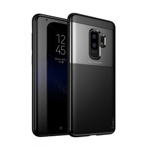 Черный (TPU+PC) чехол (накладка) Ipaky Dunjia для Samsung G965 Galaxy S9 Plus (Black)