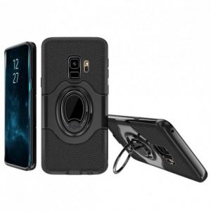 Противоударный черный (TPU+РС) чехол – бампер Ipaky Feather с кольцом и креплением под магнитный держатель для Samsung G960 Galaxy S9 (Black)