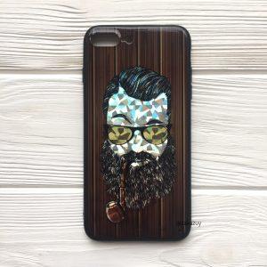 Чехол BARBER с люлькой (темный) под дерево для Iphone 7 Plus / 8 Plus