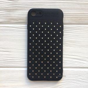 Черный силиконовый плетеный (TPU+PC) чехол со стразами Diamond для Iphone 7 / 8 (Black)