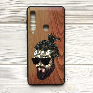 Чехол BARBER в очках (светлый) под дерево для Samsung A920 Galaxy A9 (2018)