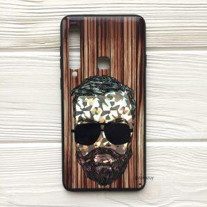 Чехол BARBER в очках (темный) под дерево для Samsung A920 Galaxy A9 (2018)