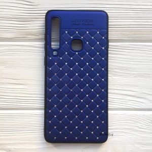 Силиконовый плетеный (TPU+PC) чехол со стразами Diamond для Samsung Galaxy A9 2018 (A920) – Cиний