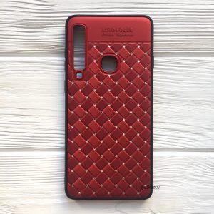 Красный силиконовый плетеный (TPU) чехол со стразами Diamond для Samsung A920 Galaxy A9 2018 (Red)