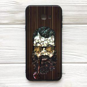 Чехол BARBER с люлькой (темный) под дерево для Samsung J415 Galaxy J4 Plus (2018)