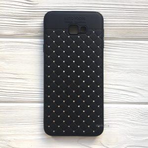 Черный силиконовый плетеный (TPU+PC) чехол со стразами Diamond для Samsung J415 Galaxy J4 Plus 2018 (Black)