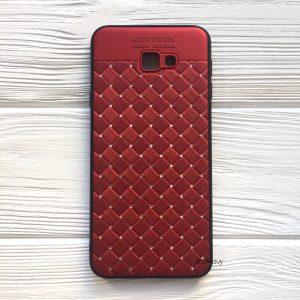 Красный силиконовый плетеный (TPU+PC) чехол со стразами Diamond для Samsung J415 Galaxy J4 Plus 2018 (Red)