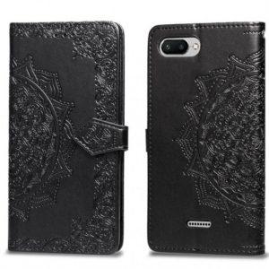 Черный кожаный чехол-книжка Art Case с визитницей для Xiaomi Redmi 6A (Black)