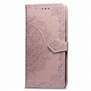 Кожаный чехол-книжка Art Case с визитницей для Xiaomi Mi Max 2 (Розовый)