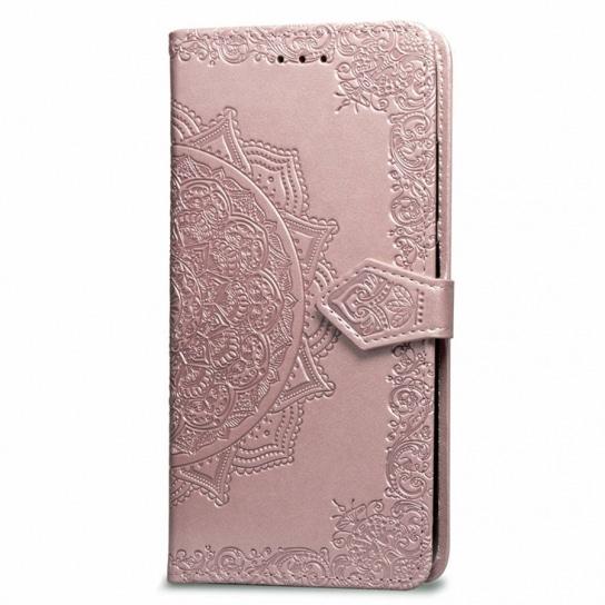 Розовый кожаный чехол-книжка Art Case с визитницей для Xiaomi Redmi 6A (Pink)