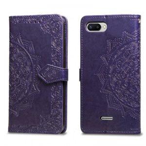 Фиолетовый кожаный чехол-книжка Art Case с визитницей для Xiaomi Redmi 6A (Violet)