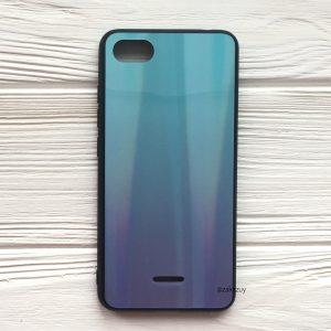 Бирюзово-фиолетовый чехол (накладка) с градиентом для Xiaomi Redmi 6A (Blue/Violet)