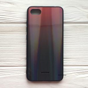 TPU+Glass чехол Gradient Aurora с градиентом для Xiaomi Redmi 6A (Red/Black)