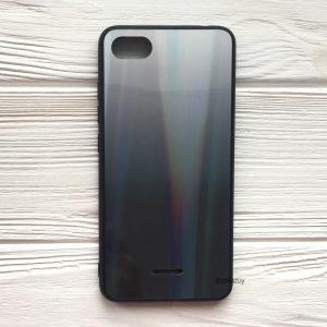 TPU+Glass чехол Gradient Aurora с градиентом для Xiaomi Redmi 6A (White/Black)
