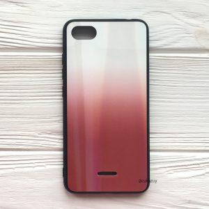 TPU+Glass чехол Gradient Aurora с градиентом для Xiaomi Redmi 6A (White/Red)