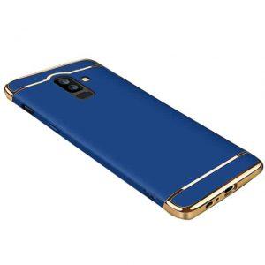 Синий пластиковый матовый чехол (накладка) Joint Series для Samsung A605 Galaxy A6 Plus (Blue)