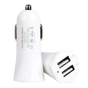 Автомобильное зарядное устройство (прикуриватель) Golf GF-C04 Tornado (2USB 2.4A+1A) White