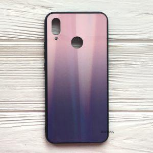 Розово-фиолетовый чехол (накладка) с градиентом для Huawei P Smart Plus / Nova 3i (Pink/Violet)