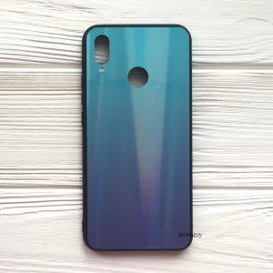 Бирюзово-фиолетовый чехол (накладка) с градиентом для Huawei P Smart Plus / Nova 3i (Blue/Violet)