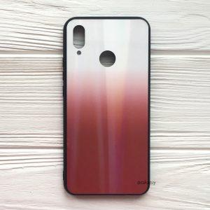 Бело-красный чехол (накладка) с градиентом для Huawei P Smart Plus / Nova 3i (White/Red)