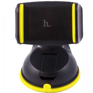Автомобильный держатель для телефона HOCO CA5 (Черный/Желтый)