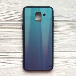 Чехол (накладка) с градиентом для Samsung J600 Galaxy J6 2018 (Blue/Violet)