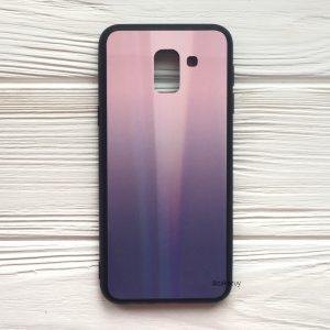 Розово-фиолетовый чехол (накладка) с градиентом для Samsung J600 Galaxy J6 2018 (Pink/Violet)