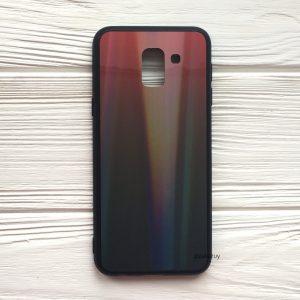 Чехол (накладка) с градиентом для Samsung J600 Galaxy J6 2018 (Red/Black)
