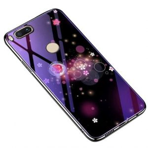 TPU+Glass чехол Fantasy с глянцевыми торцами для Xiaomi Mi 8 Lite / Mi 8 Youth Mi 8X (Bubbles with flowers)