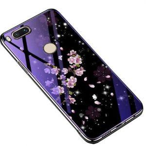 TPU+Glass чехол Fantasy с глянцевыми торцами  для Xiaomi Mi 8 Lite / Mi 8 Youth (Mi 8X) (Flowers)