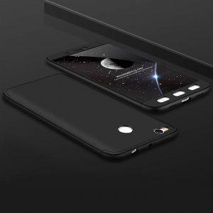 Матовый пластиковый чехол GKK 360 градусов для Xiaomi Mi Max 2 (Черный)
