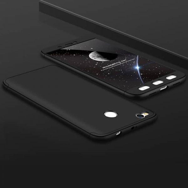 Черный матовый пластиковый чехол (бампер) GKK 360 градусов для Xiaomi Mi Max 2 (Black)
