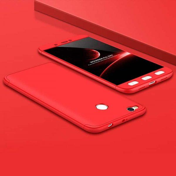 Красный матовый пластиковый чехол (бампер) GKK 360 градусов для Xiaomi Mi Max 2 (Red)