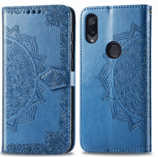 Синий кожаный чехол-книжка Art Case с визитницей для Xiaomi Redmi Note 7 (Blue)