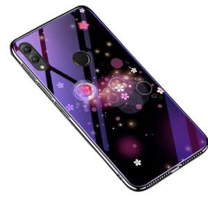 TPU+Glass чехол (накладка) Fantasy с глянцевыми торцами для Huawei Honor 8x (Bubbles with flowers)