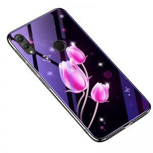 TPU+Glass чехол (накладка) Fantasy с глянцевыми торцами для Huawei Honor 8x (Tulip)