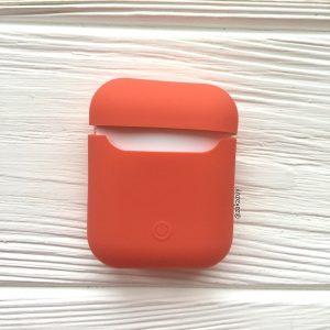 Оранжевый матовый силиконовый чехол Soft Touch для Apple Airpods (Orange)