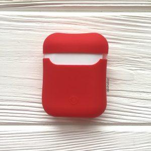 Красный матовый силиконовый чехол Soft Touch для Apple Airpods (Red)