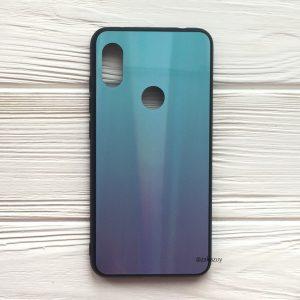 Чехол (накладка) TPU+Glass с градиентом Gradient Aurora для Xiaomi Redmi S2 (Голубой / Фиолетовый)