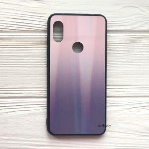 Чехол (накладка) TPU+Glass с градиентом Gradient Aurora для Xiaomi Redmi S2 (Розовый / Фиолетовый)