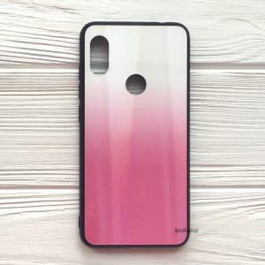 Чехол (накладка) TPU+Glass с градиентом Gradient Aurora для Xiaomi Redmi S2 (Белый / Розовый)