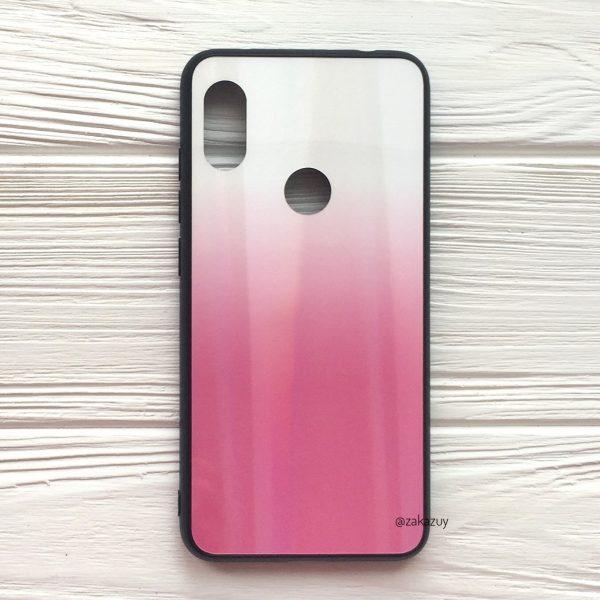 Чехол с градиентом Aurora Gradient для Xiaomi Redmi Note 6 / 6 Pro (Белый / Розовый)