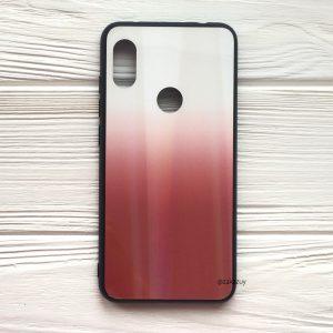 Чехол (накладка) TPU+Glass с градиентом Gradient Aurora для Xiaomi Redmi S2 (Белый / Красный)