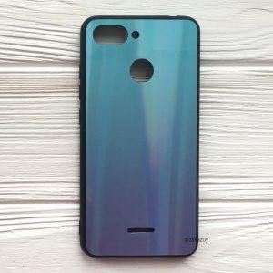 Голубо-фиолетовый чехол (накладка) с градиентом для Xiaomi Redmi 6 (Blue/Violet)