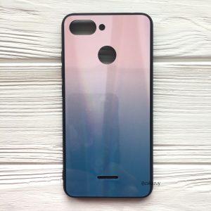 Розово-голубой чехол (накладка) с градиентом для Xiaomi Redmi 6 (Pink/Blue)