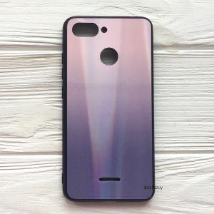 Розово-фиолетовый чехол (накладка) с градиентом для Xiaomi Redmi 6 (Pink/Violet)